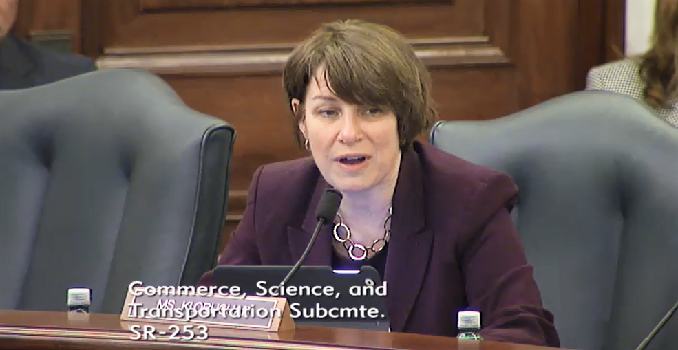 Senator Amy Klobuchar speaks about Pool safety.