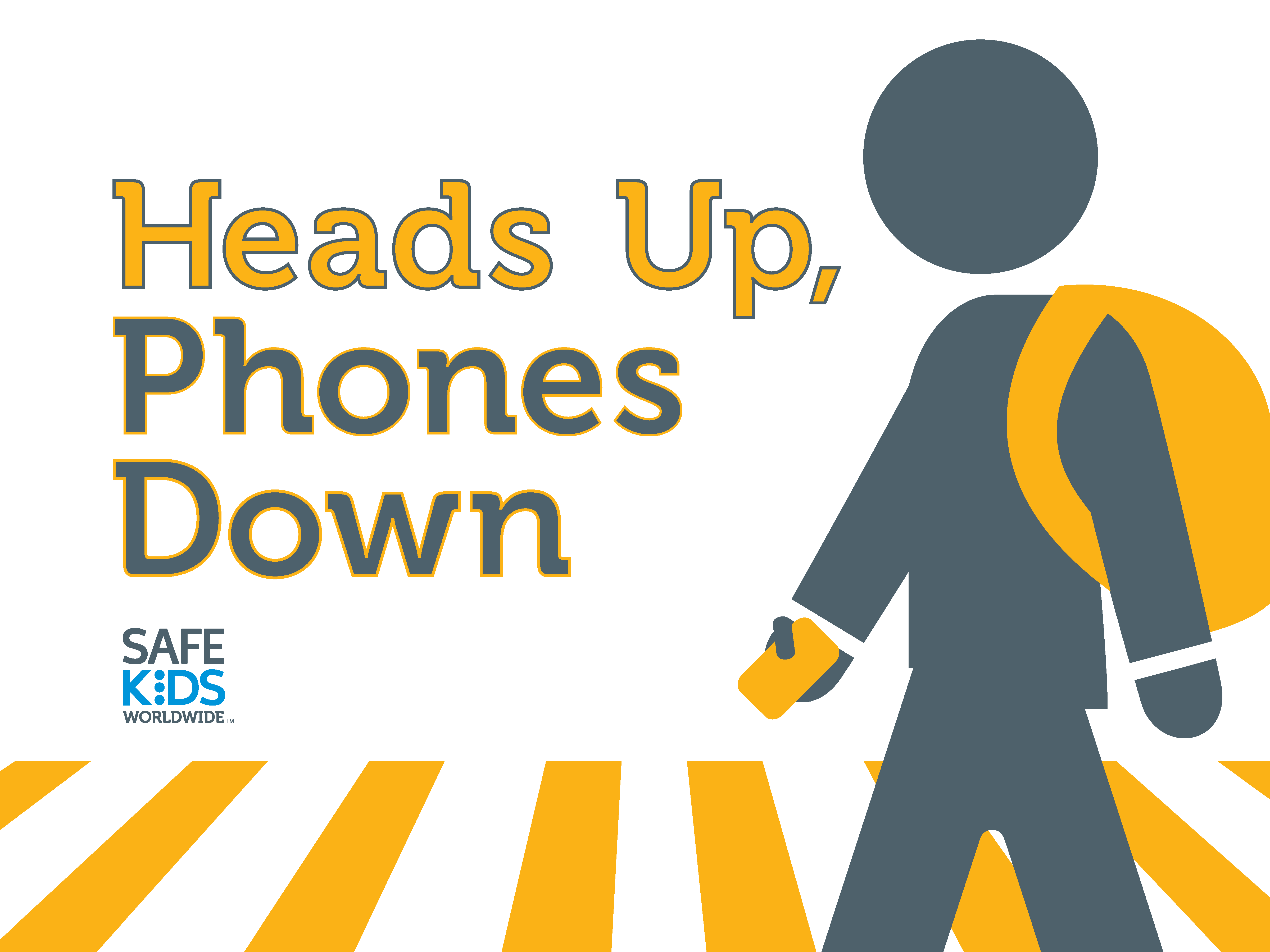 Heads Up Phones Down Signs